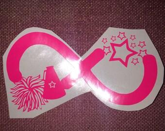 Infinity cheer decal - Cheer - Stocking Stuffers - Laptop Decal - Laptop Sticker - Cheerleader -