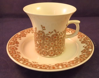 Arabia of Finland, Veronica Coffee cup and saucer.
