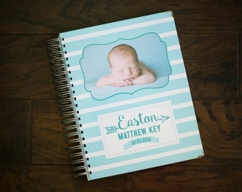 Baby Book - Baby Journal - Personalized Baby Book - Memory Book - Baby Album - Completely Customizeable Cover
