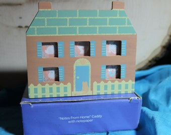 """Avon """"Notes From Home"""" Caddy With Decorative Paper~~~~50 % Off ~~~~~CIRCA 1990's"""