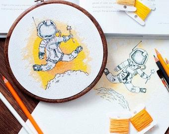 Cross stitch pattern PDF - The Martian