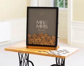 Mr & Mrs Wedding dropbox guestbook frame
