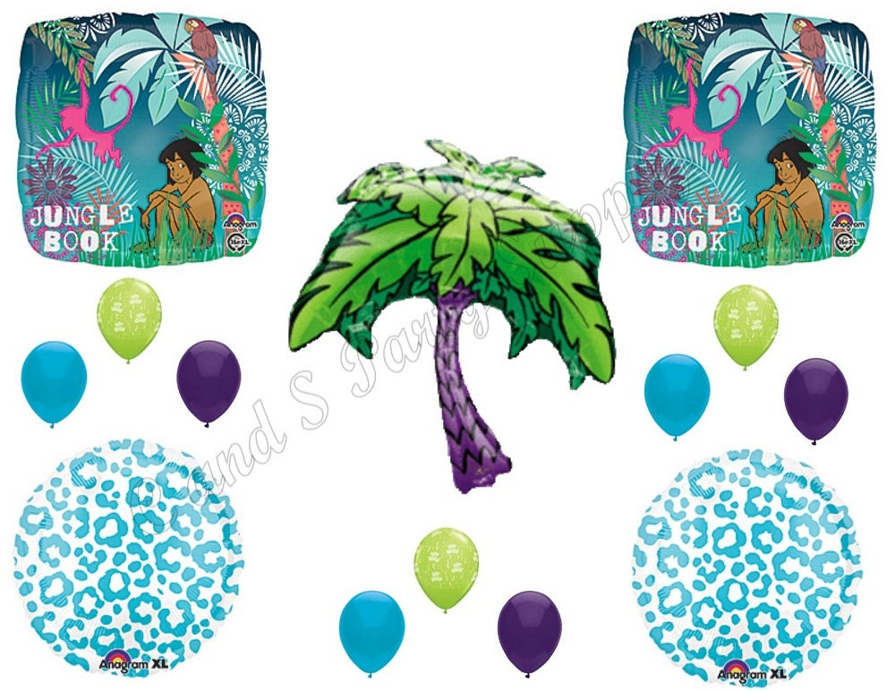 Jungle book happy birthday party balloons decoration supplies for Balloon decoration book