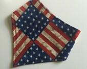 Bandanna Bib - American Flag/Navy