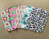 Flannel Cloth Wipes - Variety (Set of 5)