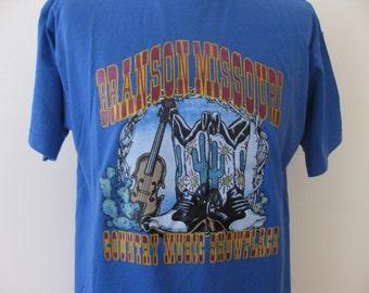 Vintage Branson Missouri T-shirt shirt Adult XL
