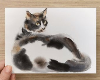 "Medium postcard (7"" x 5"") with my cat art Postcards"