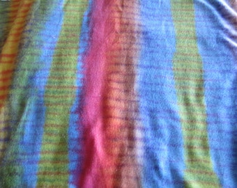 Rainbow Tiger Fleece Fabric by the Metre, stretchy fleece fabric, printed washable fleece fabric