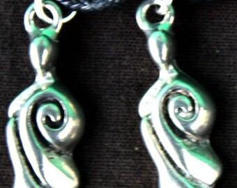 Handmade Tibetan silver Goddess Necklace.