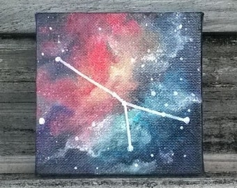 Custom Zodiac Constellation Galaxy Painting || Constellation Painting || Astronomy || Birthday Gift