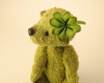 "Collectible Artist Teddy Bear ""Clover"". OOAK.  Make to Order!"