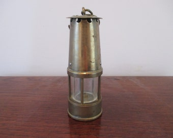 Antique Minature Brass Miners Lamp