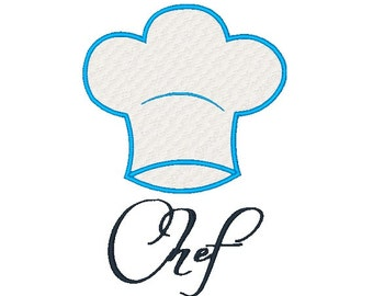 Chefs Hat Embroidery Design 120714 Kitchen Embroidery Filled stitch 4X4 5X7 8X8 6X10 Instant download