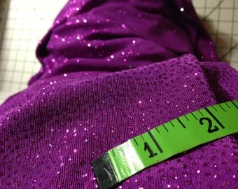 Deep Magenta purple Glitter Fabric (8yard bundle)