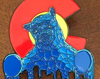 Colorado Convention Center Big Blue Bear Pin