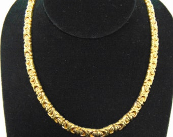 Unique Vintage Estate .925 Sterling Silver Italian Necklace W/ Gold Tone, 38.2g E2531