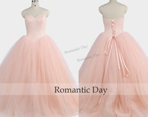 Sweetheart Beads Bodice Palace Dress Ball Gown/Pink Quinceanera Dresses/Vintage Ball Gown/Sweet 16 Dresses/Princess Dress 0455