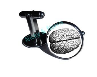 Human Brain Cufflinks - Made to Order
