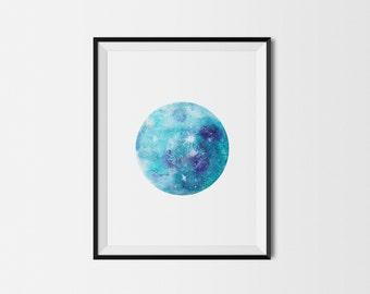 Moon art print, Bohemian, Nursery decor, Baby room wall art, Nursery print, Moon wall art, Nursery moon