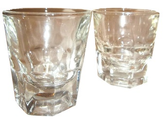 2 Thumbprint Double Shot Glasses