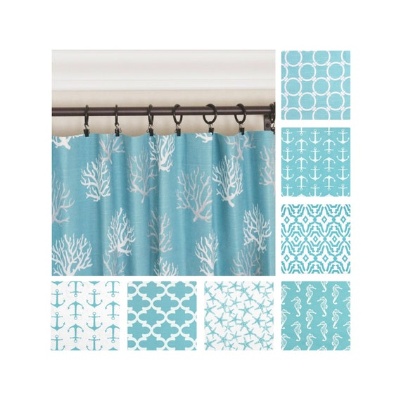 aqua blue curtain panels aqua curtains nautical curtains aqua drapes