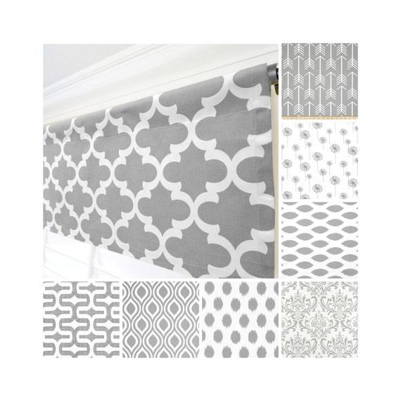 Grey Window ValanceGray Curtain ValanceGray White Modern