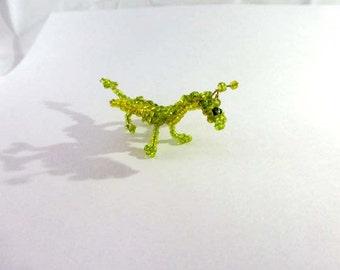 Beaded dragon handmade miniature figure