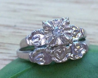 Vintage Diamond Bridal Set