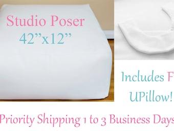 Square Bean Bag Poser, Posing Pillow, Newborn Bean Bag, Free Upillow. bean bag poser. poser