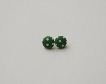 Fabric button earrings