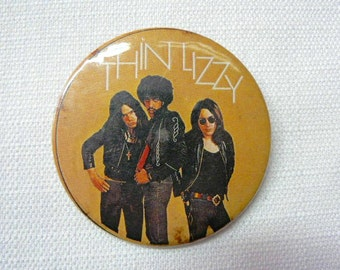 BIG Vintage Late 70s Thin Lizzy Pin / Button / Badge