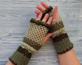 Crochet fingerless gloves, knitted mittens, spring gloves, lace gloves, arm warmer, boho gloves, crochet mittens, hand knit green gloves
