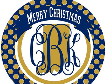 Indiana Ornaments. Monogrammed Indiana Christmas Gift! Great Indiana stocking stuffers!