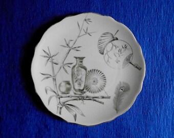 Antique: Bishop & Stonier Oriental Ivory Paragon Pattern Dinner Plate 1880