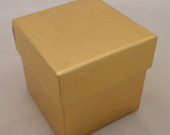 20 Two-Piece 2x2x2 Gold Box, Favor Box, Gift Box, Candy Holder