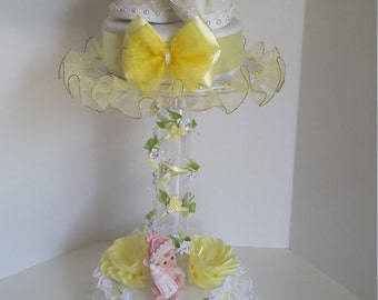 Baby girl centerpiece, baby shower centerpiece