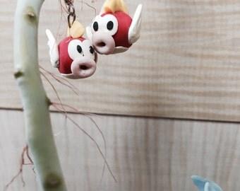 Cheep Cheep Mario earrings