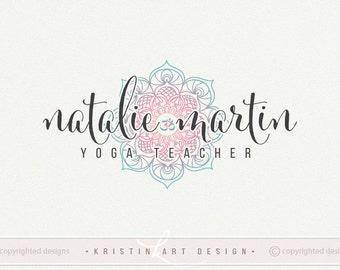 Mandala logo, Yoga logo, Premade logo, Yoga teching logo design, Watermark 446