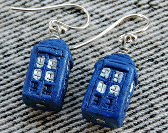 Dr. Who Tardis earrings