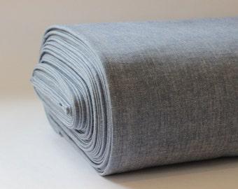 Organic  Crossweave Fabric 100% Cotton - Blue
