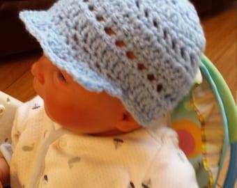 Baby Blue Newsboy Hat, Blue hat,