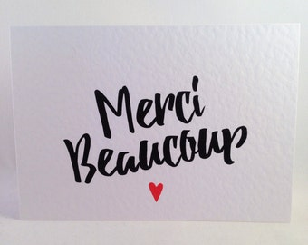 Thank You Card - Merci beaucoup