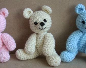 Crochet teddy bear. Photo props. Newborn crochet. Teddy bear. Handmade teddy.