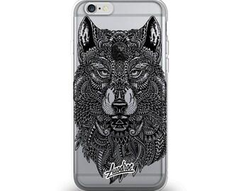 iPhone Case Aztec Wolf
