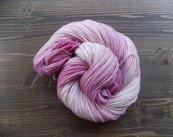 Hand Dyed Yarn, Hand Painted Yarn, MCN, Merino Cashmere Nylon, Pink
