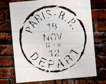 Paris Postmark Stencil - Select Size - STCL1041 - by StudioR12