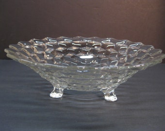 Fostoria American Pattern 3 Footed Bowl 1915-1986 Serving Bowl