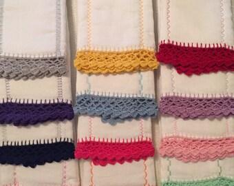 Edge Crochet - Burp Cloth