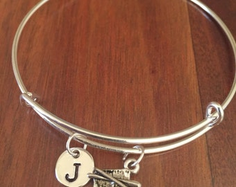 Sushi initial bracelet, food bracelet, Sushi bracelet, Sushi lover, food jewelry, Gift for Sushi Lover, Gift for Foodie