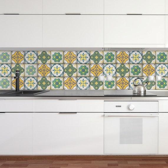 Adhesivos de azulejos marroquíes Set de 4 azulejos